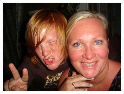 Chrille och Camilla sommaren 2007